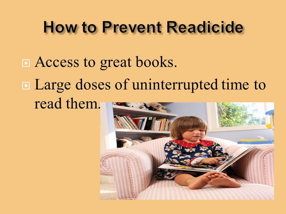 How to Prevent Readicide