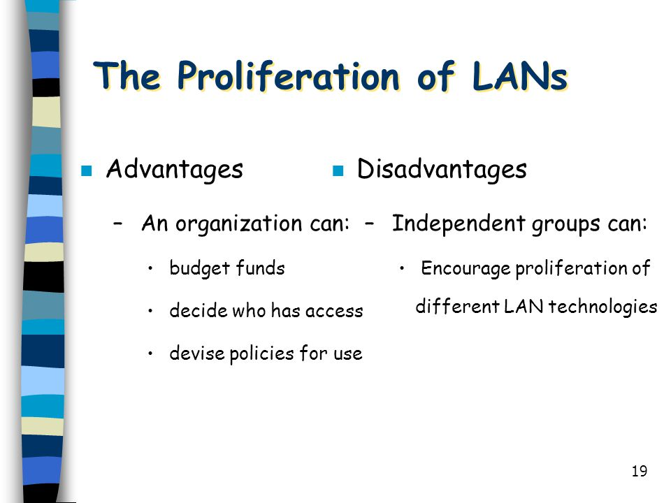 The Proliferation of LANs