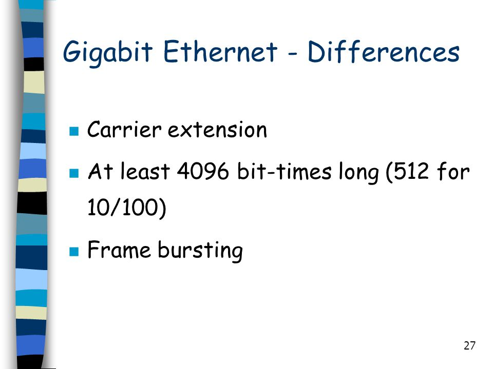 Gigabit Ethernet - Differences