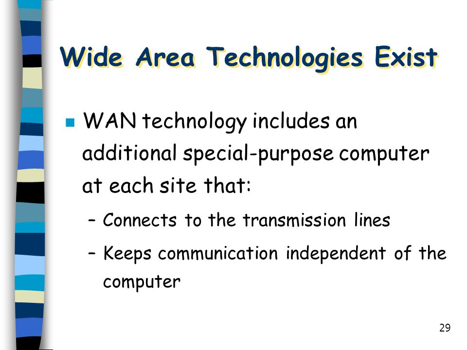 Wide Area Technologies Exist