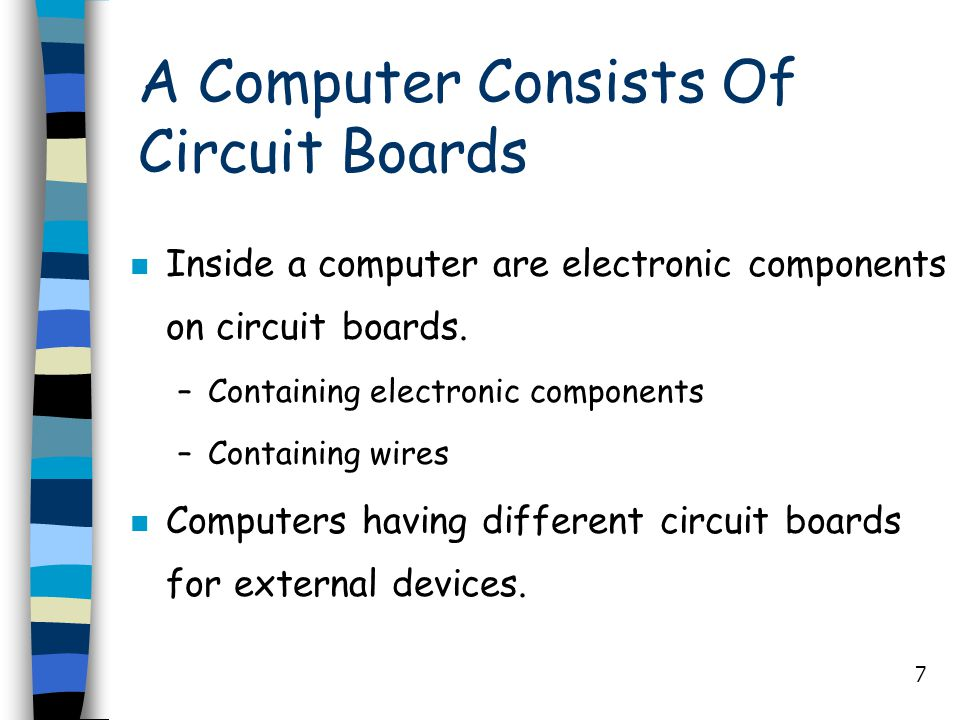 A Computer Consists Of Circuit Boards