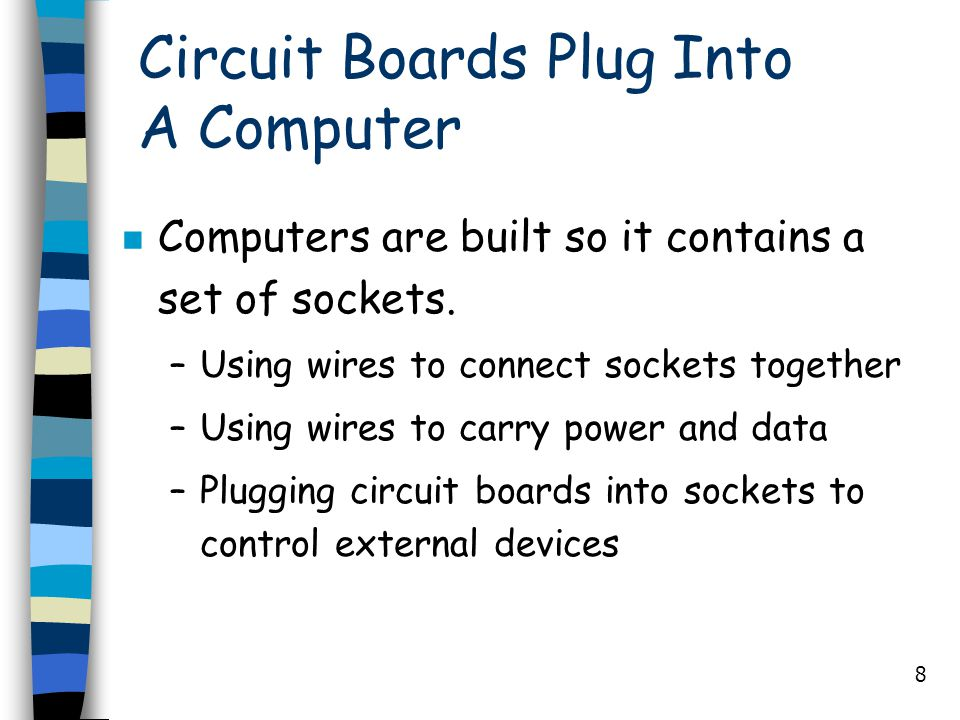 Circuit Boards Plug Into A Computer