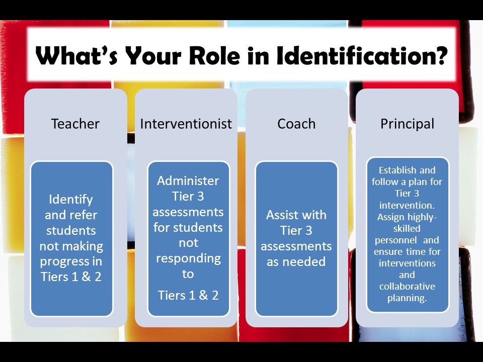 What's Your Role in Identification
