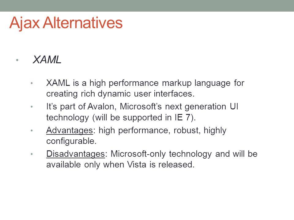 Ajax Alternatives XAML