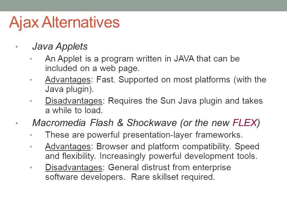 Ajax Alternatives Java Applets