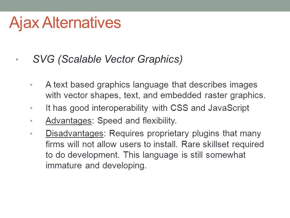 Ajax Alternatives SVG (Scalable Vector Graphics)