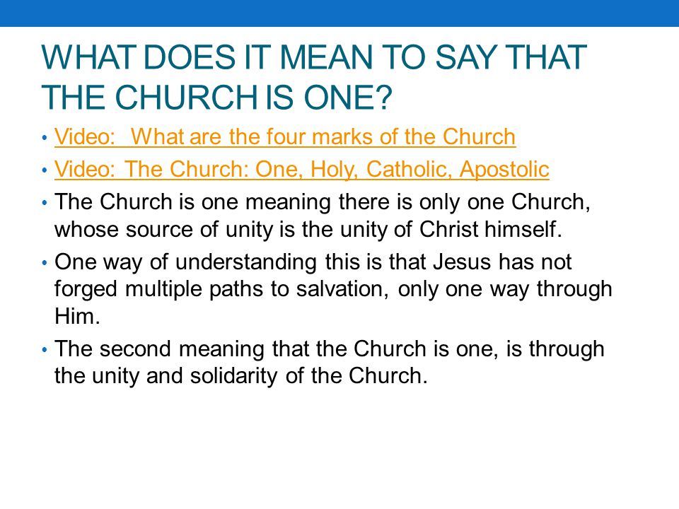 what does the church mean to This means the new testament church is a body of believers who have been called out from the world by god to live as his people under the authority of jesus christ: god has put all things under the authority of christ and has made him head over all things for the benefit of the church.