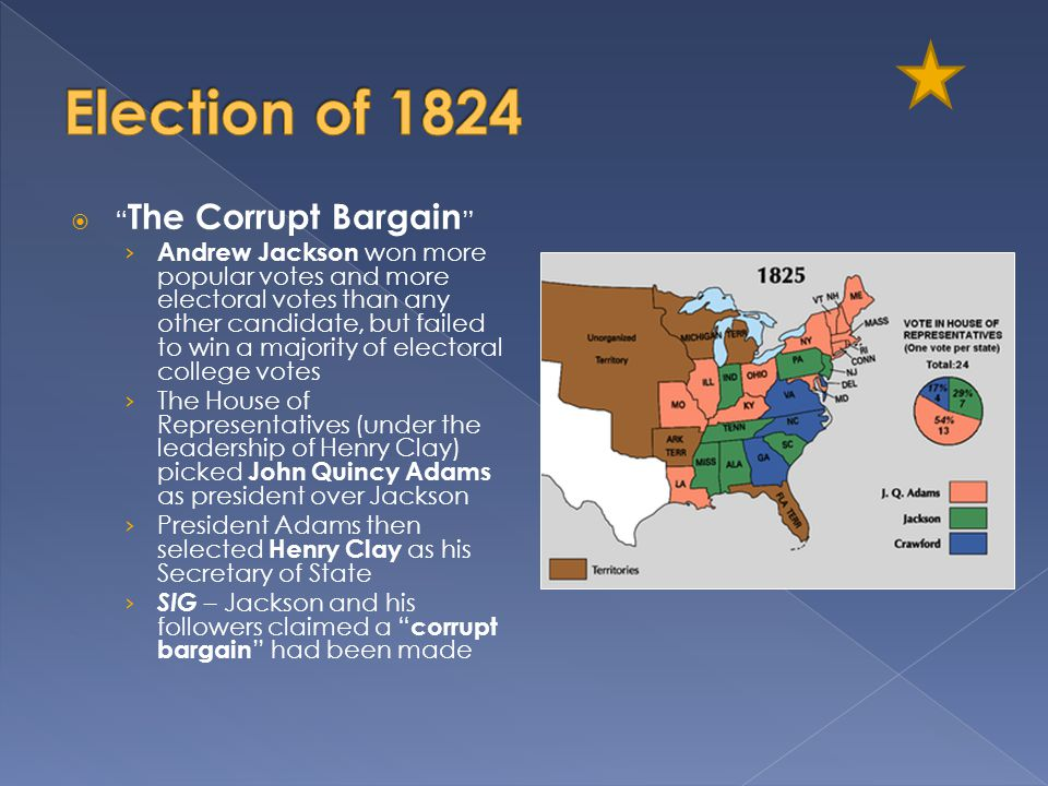 Election of 1824 The Corrupt Bargain