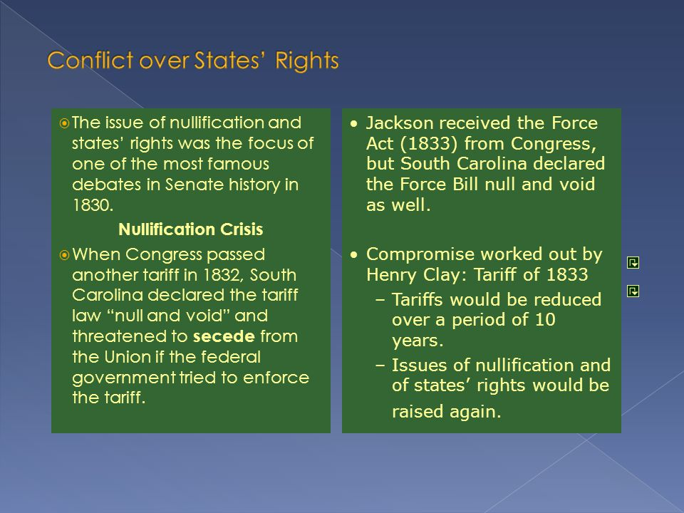Conflict over States' Rights