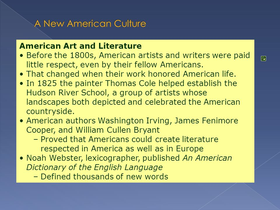 A New American Culture American Art and Literature