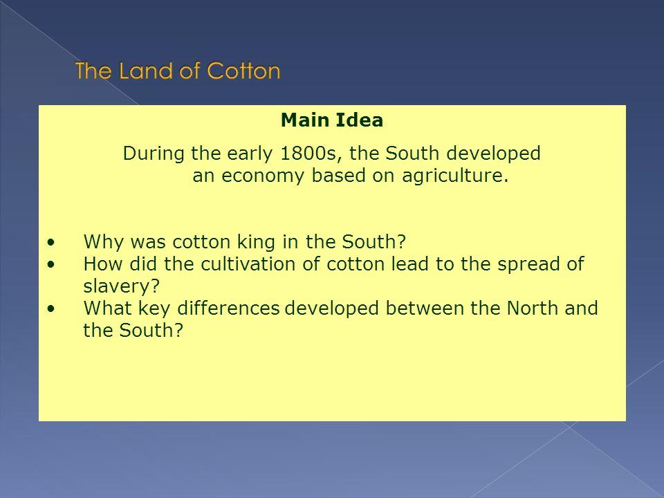 The Land of Cotton Main Idea
