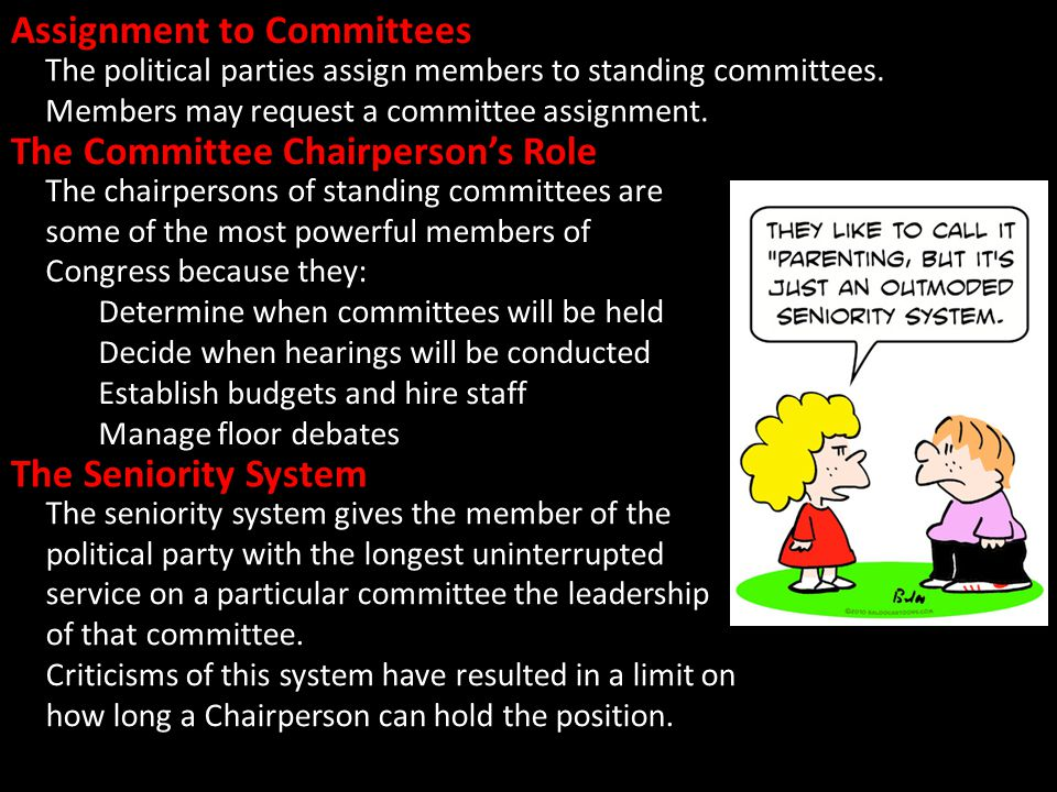 Assignment to Committees