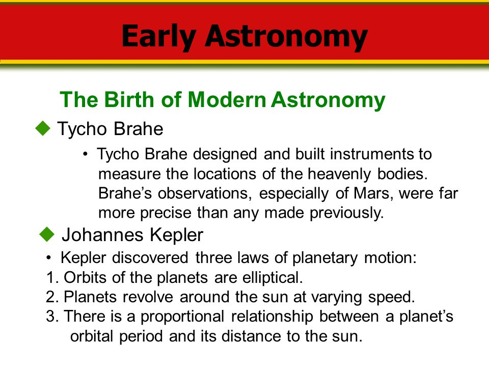 Early Astronomy The Birth of Modern Astronomy  Tycho Brahe
