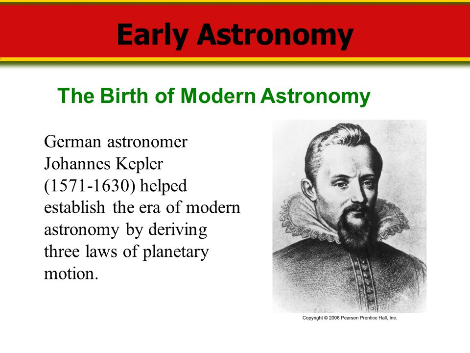 Early Astronomy The Birth of Modern Astronomy German astronomer