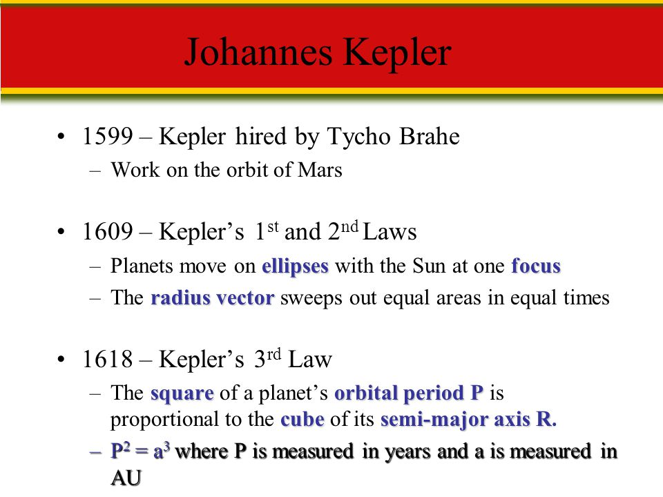 Johannes Kepler 1599 – Kepler hired by Tycho Brahe