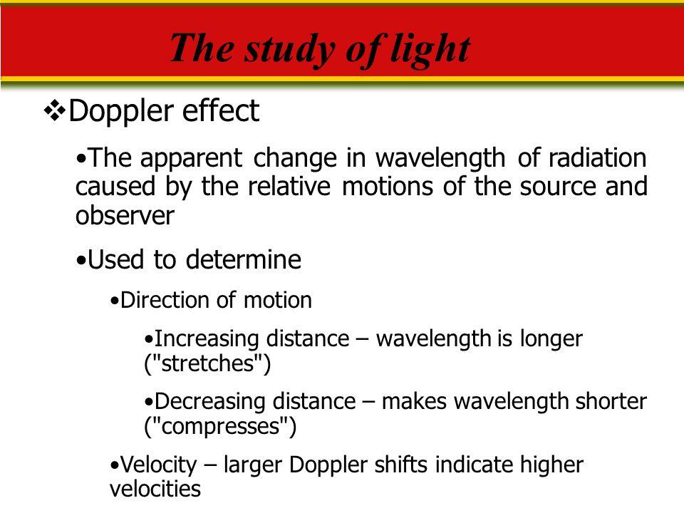 The study of light Doppler effect