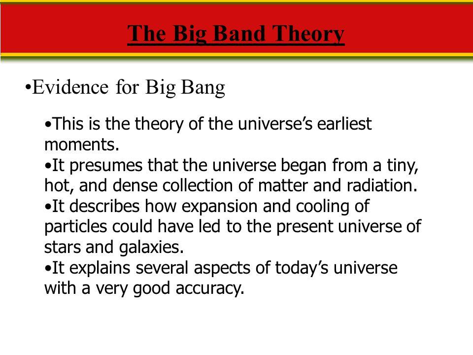 The Big Band Theory Evidence for Big Bang