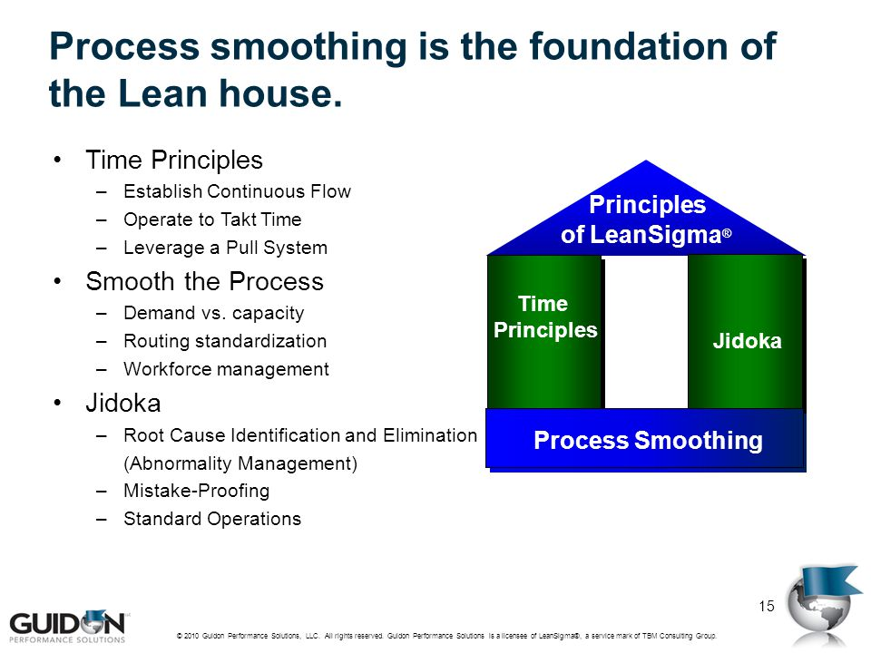 Process smoothing is the foundation of the Lean house.