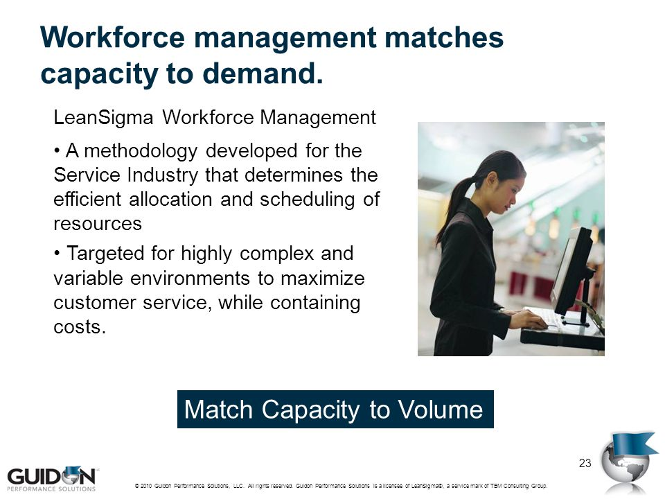 Workforce management matches capacity to demand.