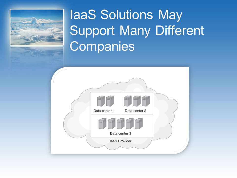 IaaS Solutions May Support Many Different Companies