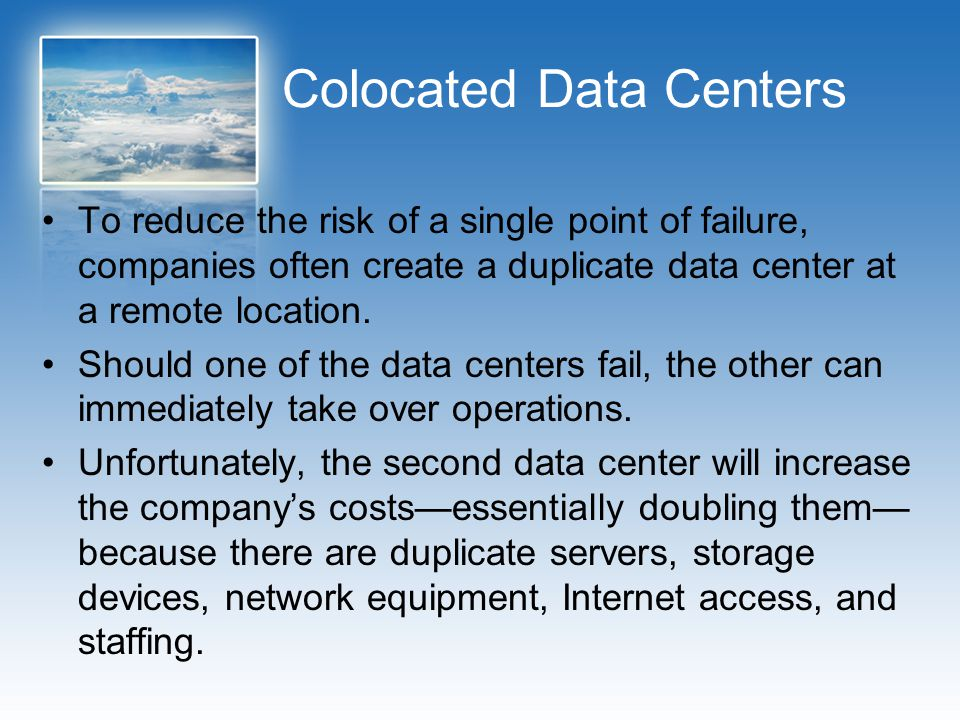 Colocated Data Centers