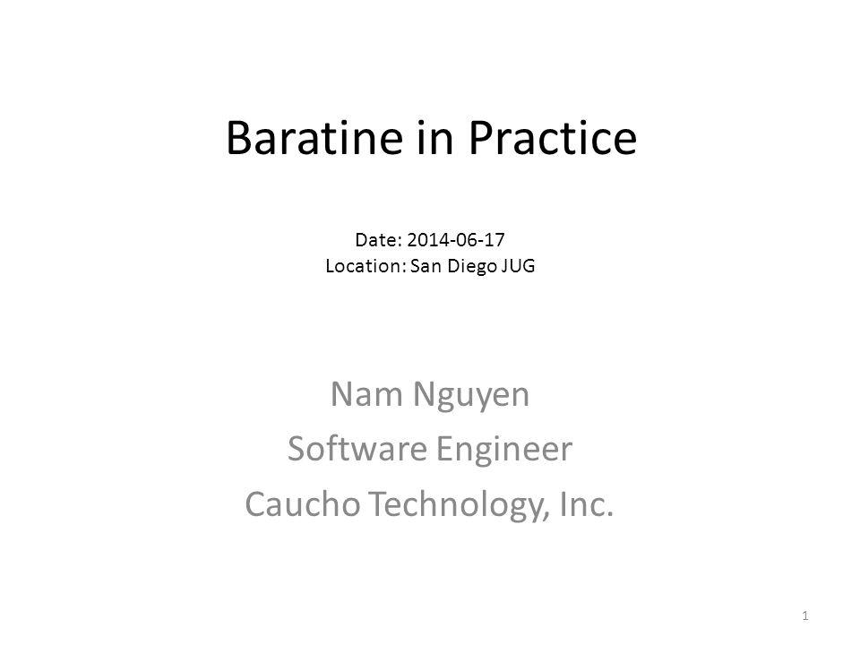 Nam Nguyen Software Engineer Caucho Technology, Inc.