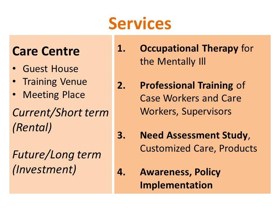 Services Care Centre Current/Short term (Rental) Future/Long term