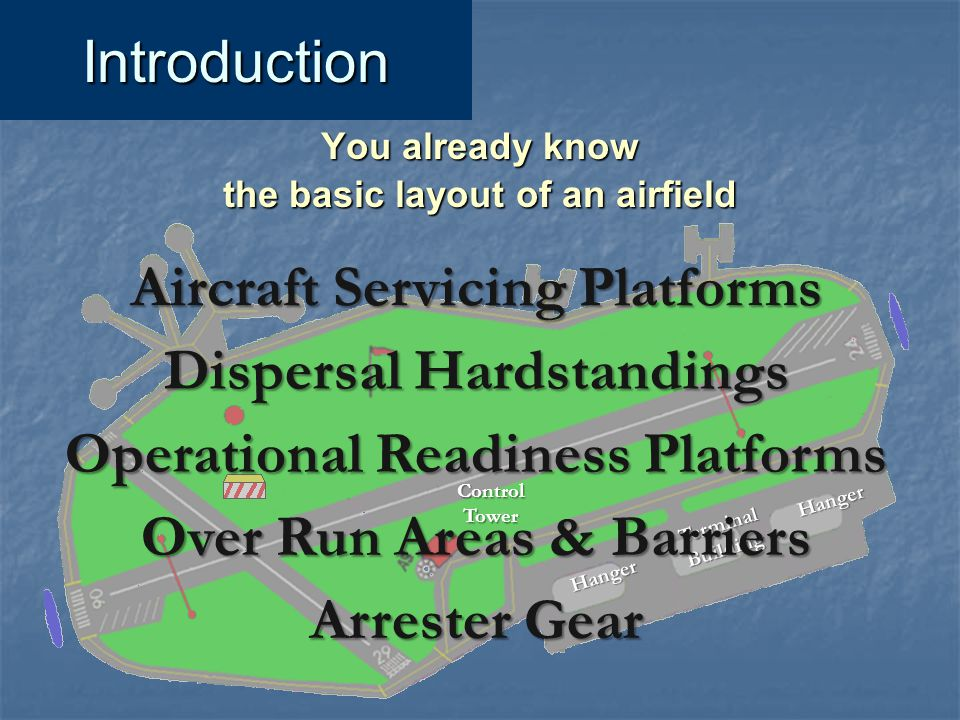 Aircraft Servicing Platforms Dispersal Hardstandings