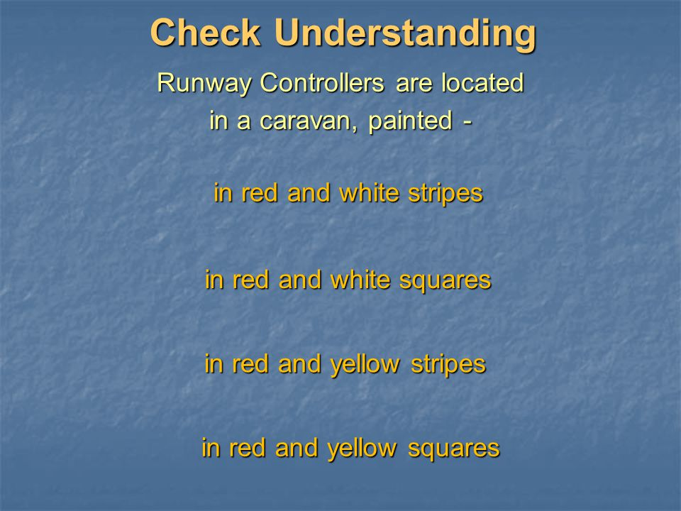 Runway Controllers are located
