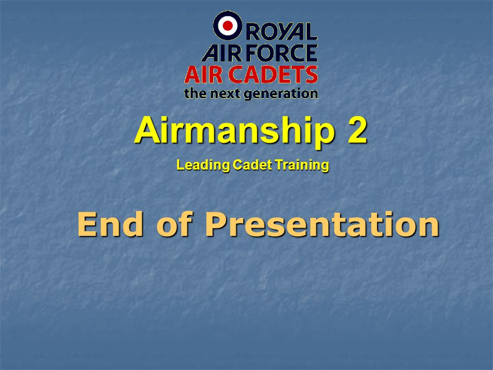 Leading Cadet Training