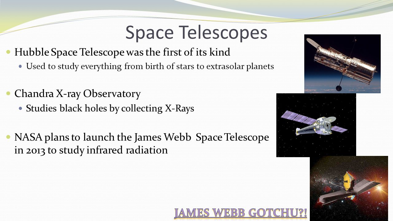 Space Telescopes James Webb Gotchu !