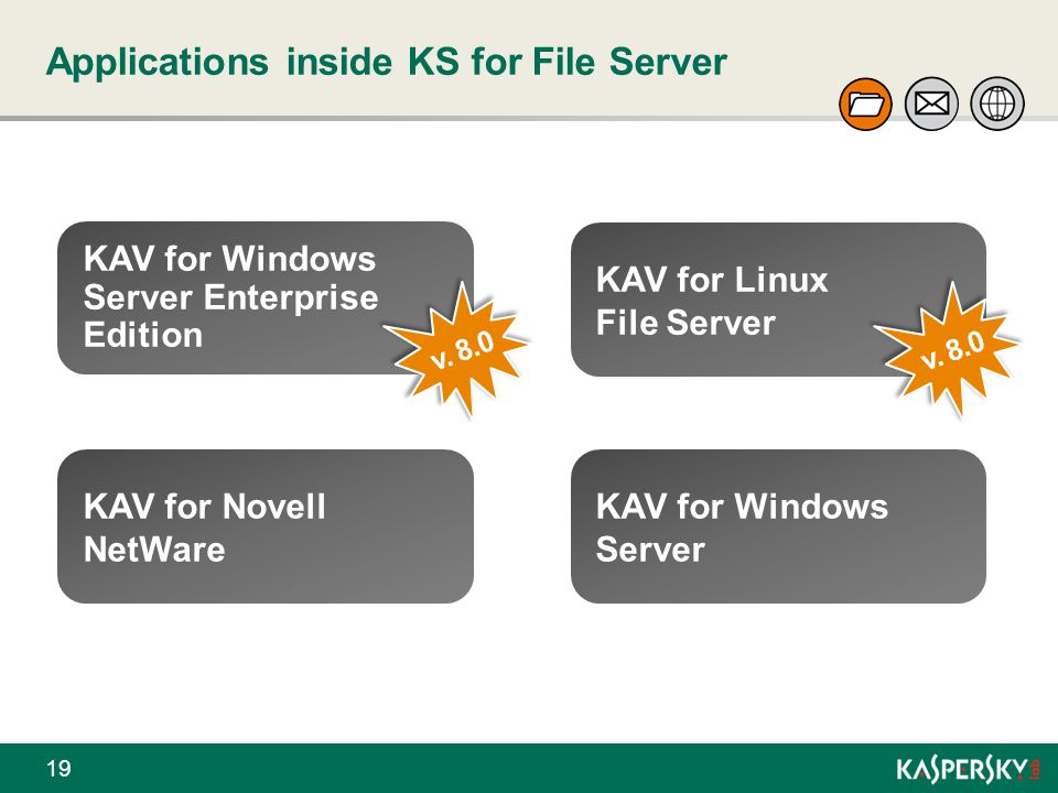 Applications inside KS for File Server