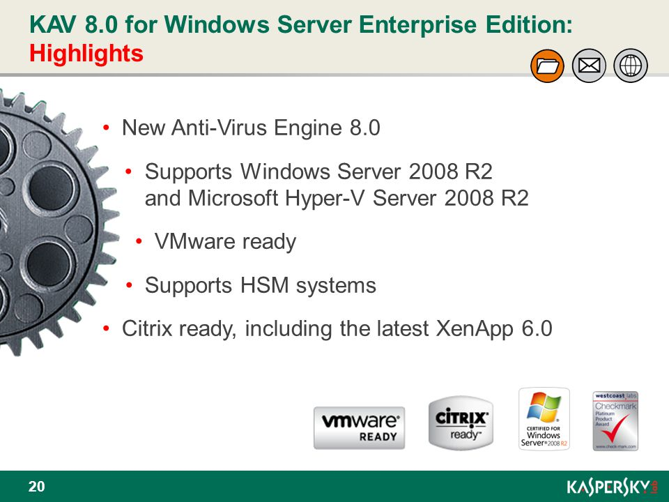 KAV 8.0 for Windows Server Enterprise Edition: Highlights