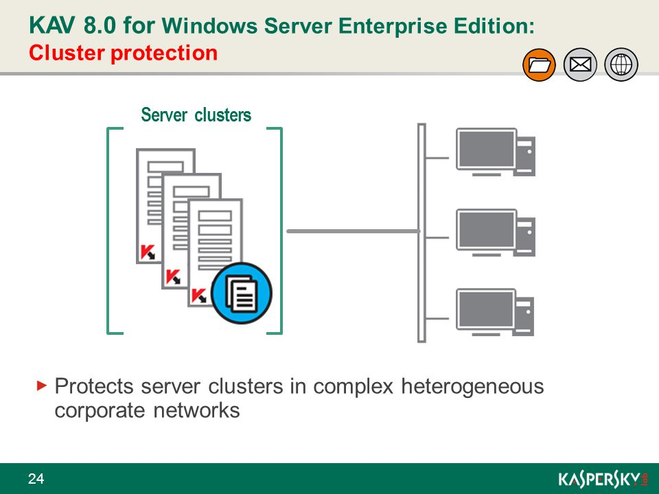 KAV 8.0 for Windows Server Enterprise Edition: Cluster protection
