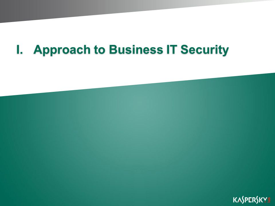 Approach to Business IT Security