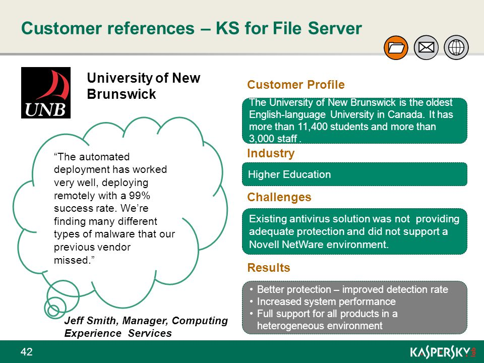 Customer references – KS for File Server