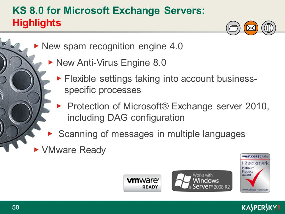 KS 8.0 for Microsoft Exchange Servers: Highlights