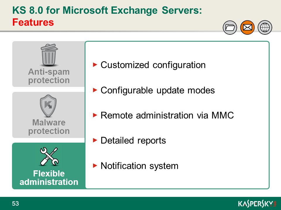 KS 8.0 for Microsoft Exchange Servers: Features