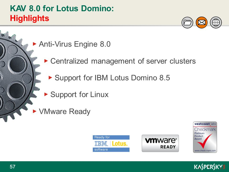 KAV 8.0 for Lotus Domino: Highlights