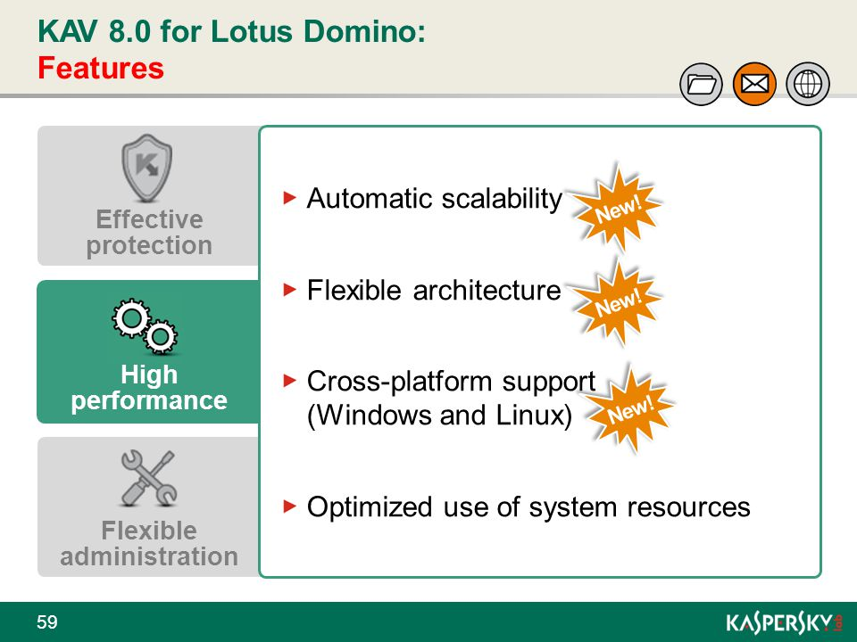 KAV 8.0 for Lotus Domino: Features