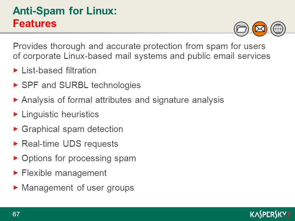 Anti-Spam for Linux: Features