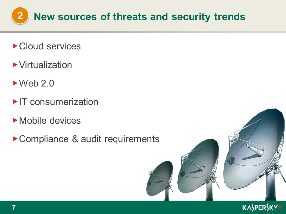 New sources of threats and security trends