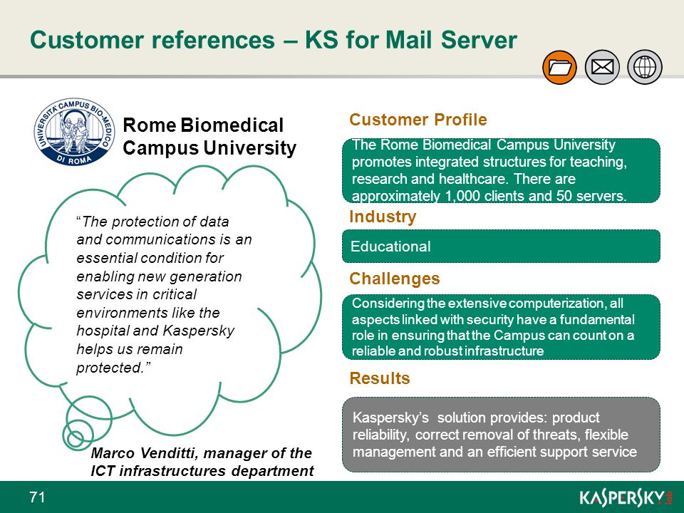 Customer references – KS for Mail Server