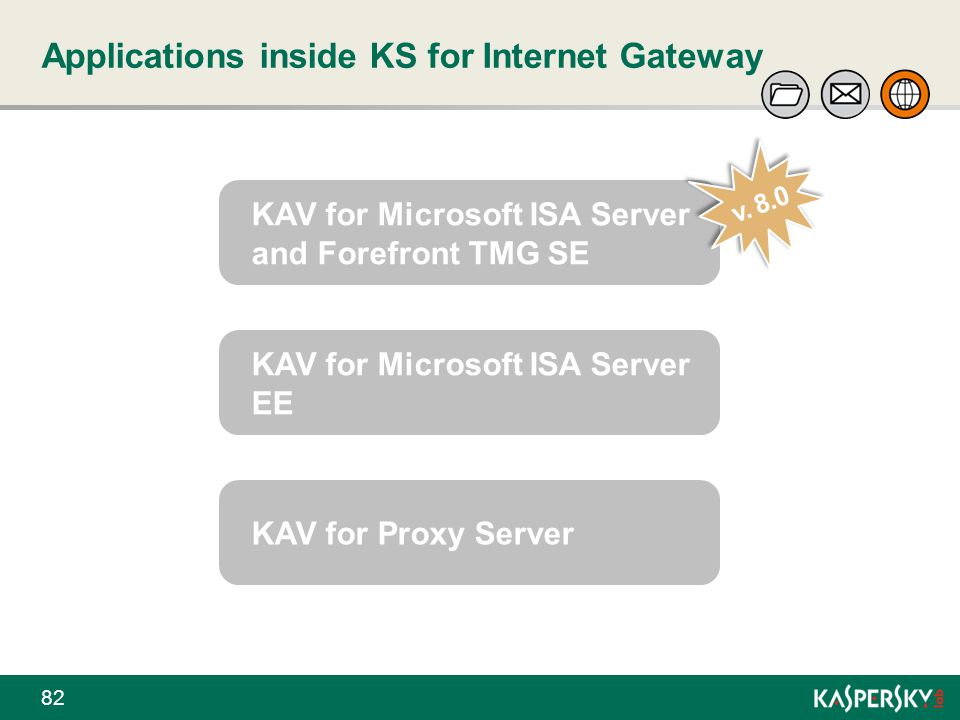 Applications inside KS for Internet Gateway