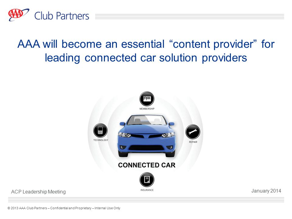 AAA will become an essential content provider for leading connected car solution providers