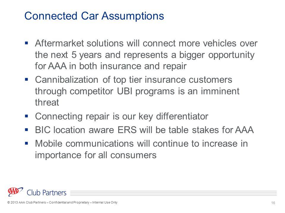 Connected Car Assumptions