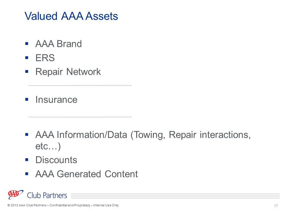 Valued AAA Assets AAA Brand ERS Repair Network Insurance