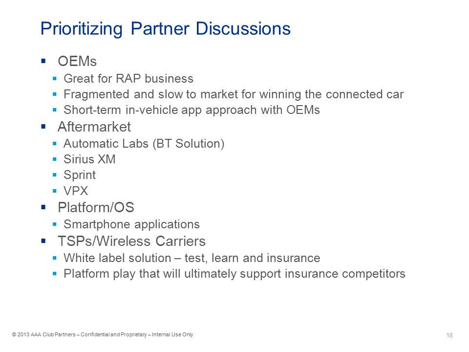 Prioritizing Partner Discussions