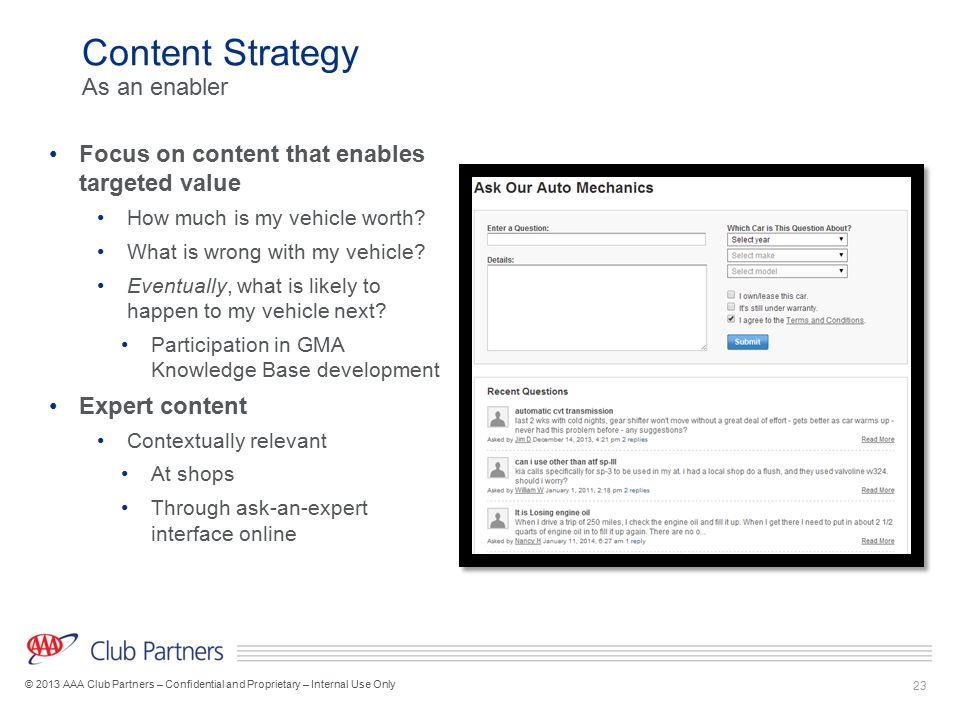 Content Strategy As an enabler