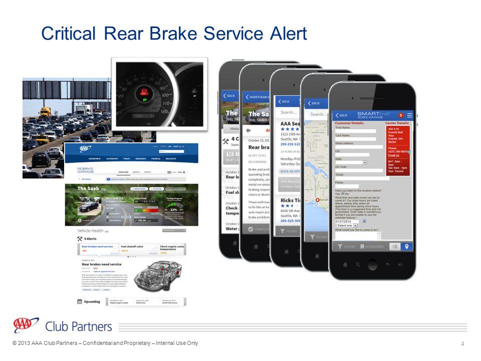 Critical Rear Brake Service Alert